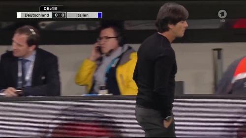 Joachim Löw 1st half – Deutschland v Italien 15