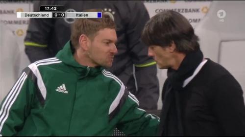 Joachim Löw 1st half – Deutschland v Italien 16