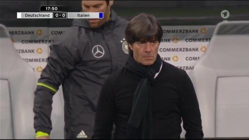Joachim Löw 1st half – Deutschland v Italien 19