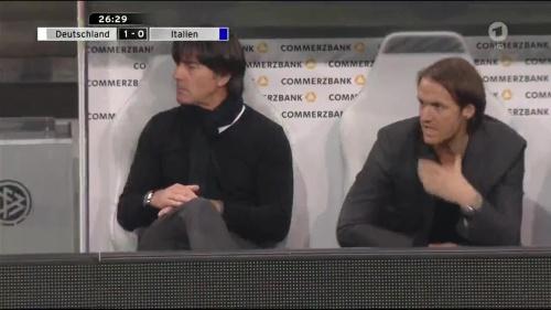 Joachim Löw 1st half – Deutschland v Italien 20