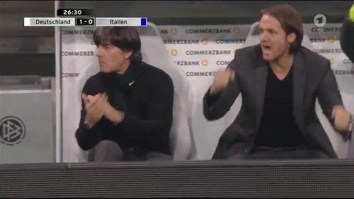 Joachim Löw 1st half – Deutschland v Italien 21