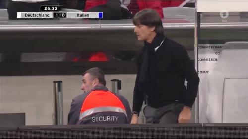 Joachim Löw 1st half – Deutschland v Italien 22