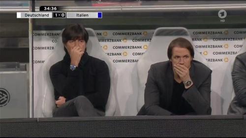 Joachim Löw 1st half – Deutschland v Italien 23