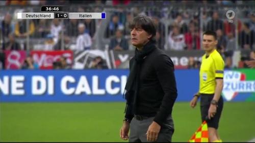 Joachim Löw 1st half – Deutschland v Italien 24
