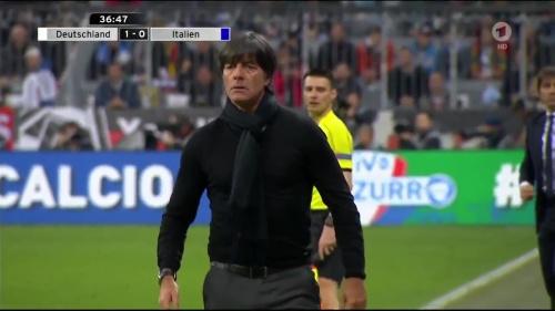 Joachim Löw 1st half – Deutschland v Italien 25