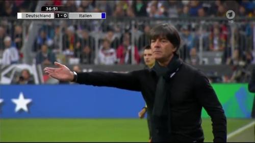 Joachim Löw 1st half – Deutschland v Italien 26