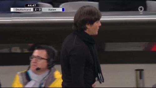 Joachim Löw 1st half – Deutschland v Italien 27