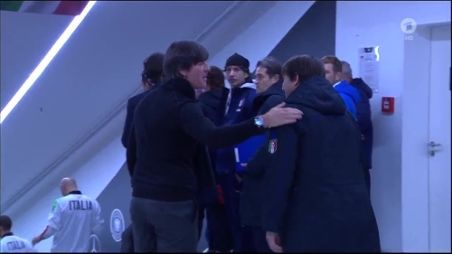 Joachim Löw 1st half – Deutschland v Italien 4