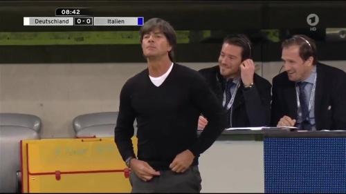 Joachim Löw 1st half – Deutschland v Italien 7