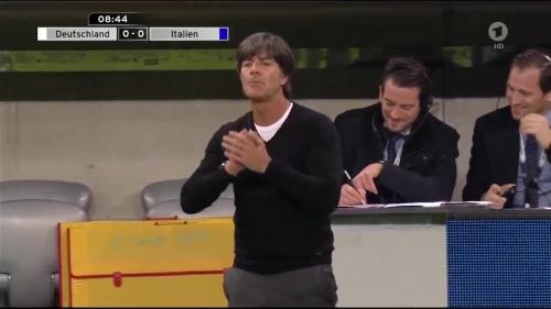 Joachim Löw 1st half – Deutschland v Italien 9