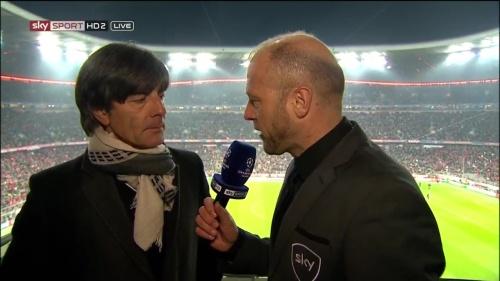 Joachim Löw – Bayern v Juventus half-time interview 1