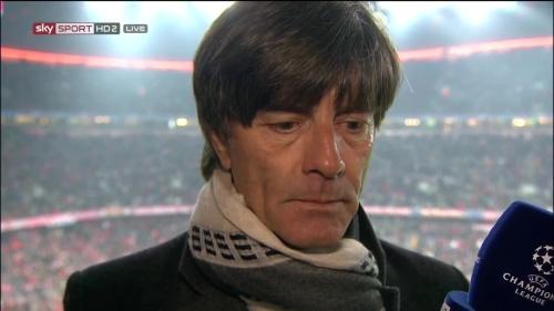 Joachim Löw – Bayern v Juventus half-time interview 3