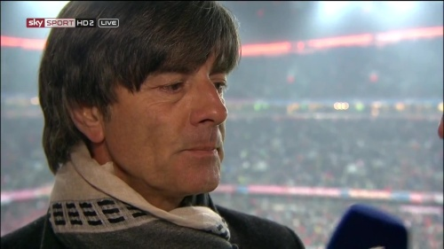 Joachim Löw – Bayern v Juventus half-time interview 4