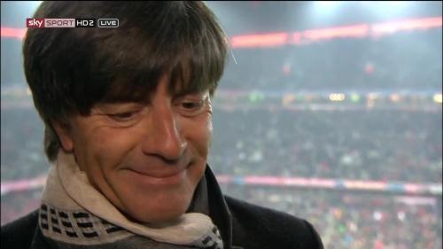 Joachim Löw – Bayern v Juventus half-time interview 5