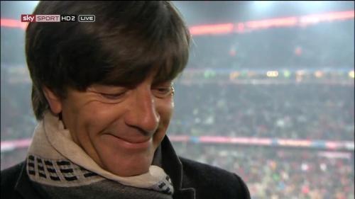 Joachim Löw – Bayern v Juventus half-time interview 6