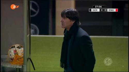 Joachim Löw – Deutschland v England – 1st half 10
