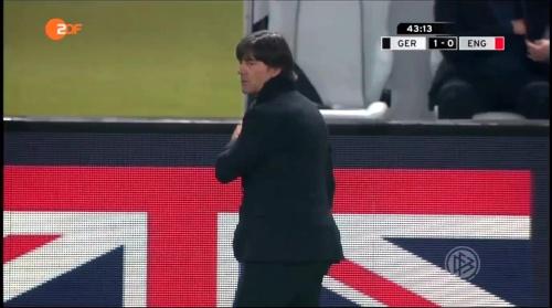 Joachim Löw – Deutschland v England – 1st half 12