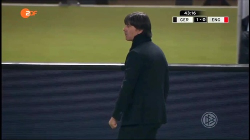 Joachim Löw – Deutschland v England – 1st half 13