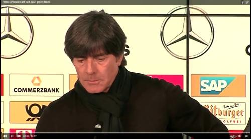 Joachim Löw – PK DEU-ITA 1