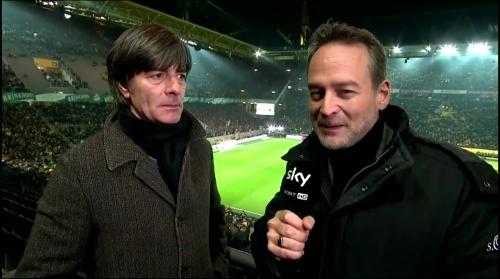 Joachim Löw half-time interview – Borussia Dortmund v Bayern München 1