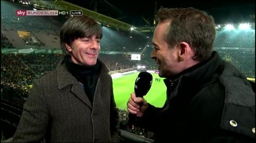 Joachim Löw half-time interview – Borussia Dortmund v Bayern München 2