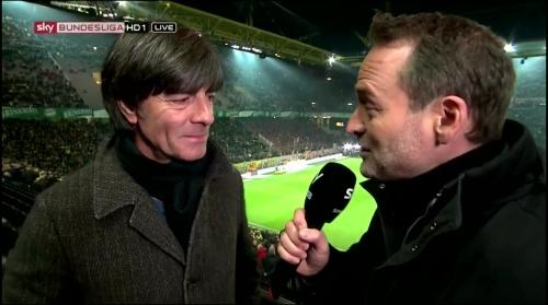 Joachim Löw half-time interview – Borussia Dortmund v Bayern München 3