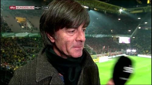 Joachim Löw half-time interview – Borussia Dortmund v Bayern München 4
