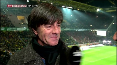 Joachim Löw half-time interview – Borussia Dortmund v Bayern München 5