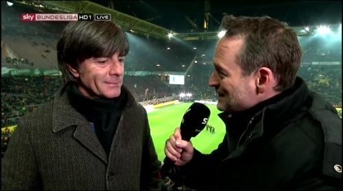 Joachim Löw half-time interview – Borussia Dortmund v Bayern München 6