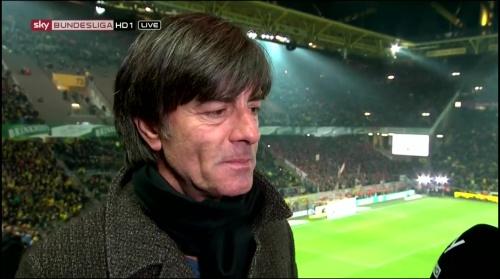 Joachim Löw half-time interview – Borussia Dortmund v Bayern München 7