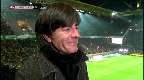 Joachim Löw half-time interview – Borussia Dortmund v Bayern München 8