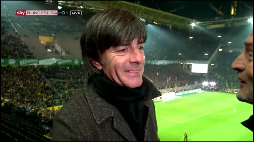 Joachim Löw half-time interview – Borussia Dortmund v Bayern München 9