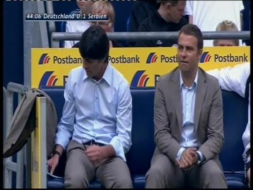 Joachim Löw & Hansi Flick – Germany v Serbia (2008) 2