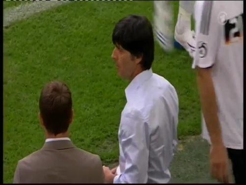 Joachim Löw & Hansi Flick – Germany v Serbia (2008) 3