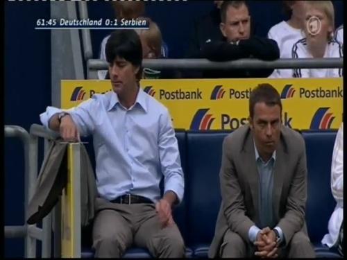 Joachim Löw & Hansi Flick – Germany v Serbia (2008) 4