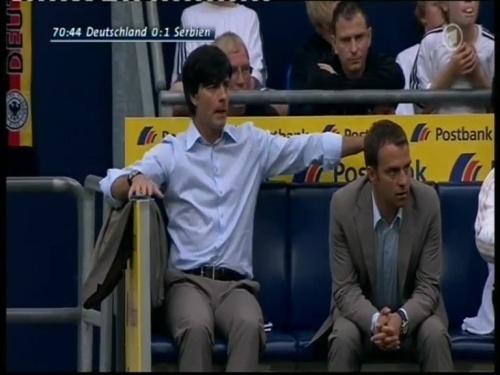 Joachim Löw & Hansi Flick – Germany v Serbia (2008) 6