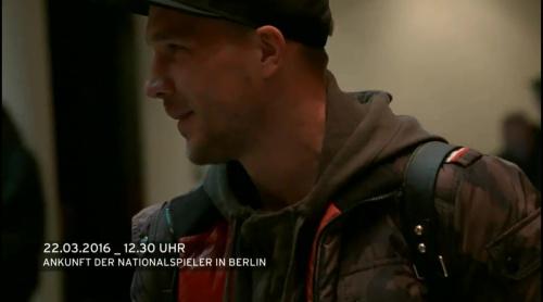 Lukas Podolski - Ankunft in Berlin