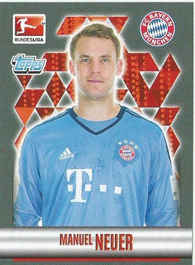 PANINI-FC Bayern Munich 2015//16 Sticker 28-Manuel de nouveaux