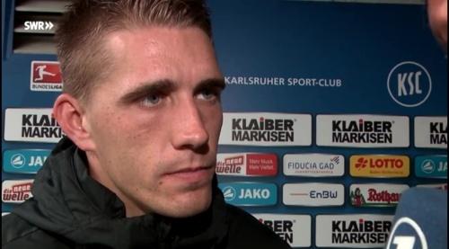Nils Petersen - post-match interview - KSC v SCF 1