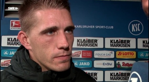 Nils Petersen - post-match interview - KSC v SCF 1