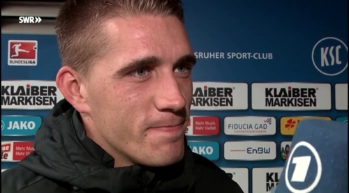 Nils Petersen - post-match interview - KSC v SCF 3