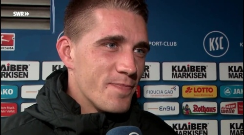 Nils Petersen - post-match interview - KSC v SCF 4