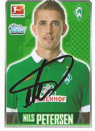 Nils Petersen - signed Bremen 2014-15 sticker