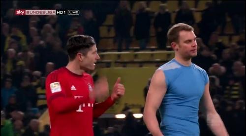 Robert Lewandowksi & Manuel Neuer – Dortmund v Bayern 1