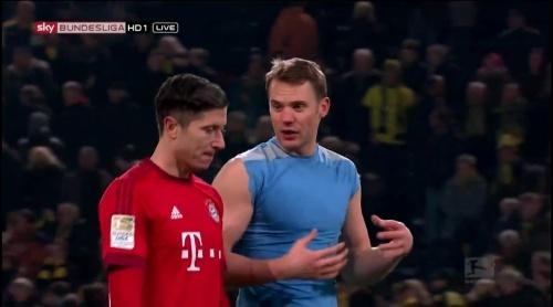 Robert Lewandowksi & Manuel Neuer – Dortmund v Bayern 2