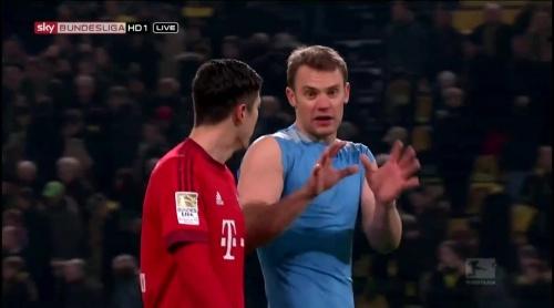 Robert Lewandowksi & Manuel Neuer – Dortmund v Bayern 3
