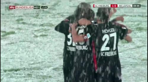 SCF celebrate Grifo's goal - SCF v RBL