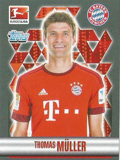 Thomas Müller - Bayern München – Bundesliga 2015-16 sticker