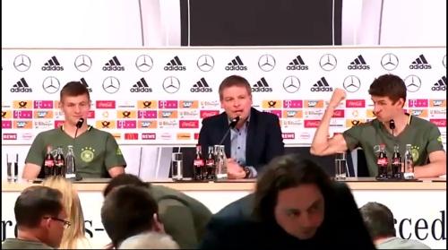Toni Kroos & Thomas Müller – press conference 1