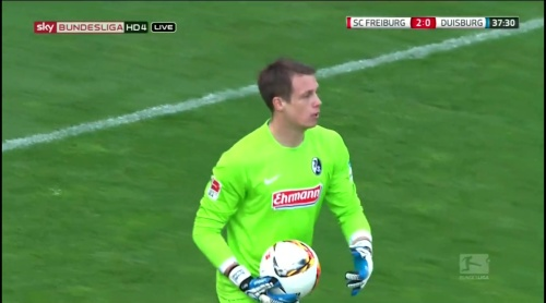 Alexander Schwolow – Freiburg v Duisburg 7